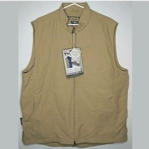 Scottevest rfid travel xl tan new mens